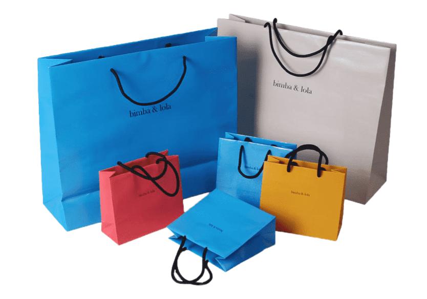 Bolsas personalizadas en papel bond