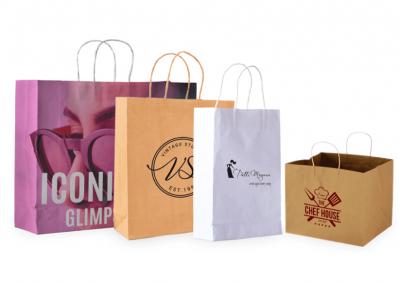 Bolsas personalizadas con asas papel torcido